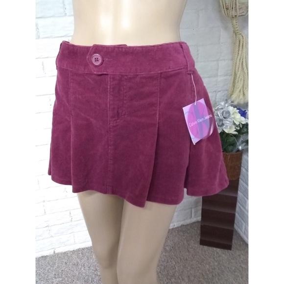 bffdecc0bc11 Calvin Klein Jeans Skirts | Calvin Klein Pleated Corduroy Mini Skirt ...